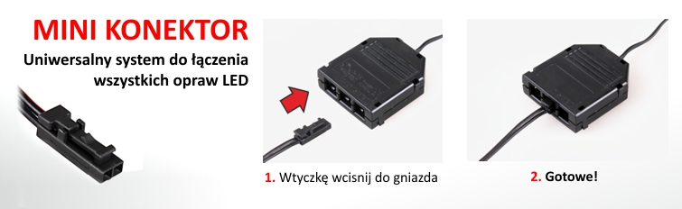 System Mini-konektor do oświetlenia LED